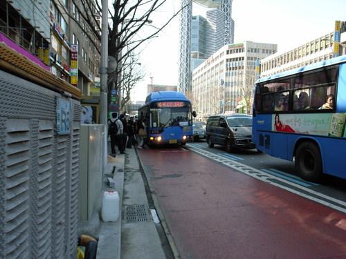 ソウルのバス_Red Zone